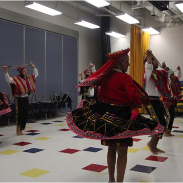 Peruvian dancers impress while Educating
