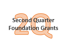 A thank you to the foundations who contributed second quarter