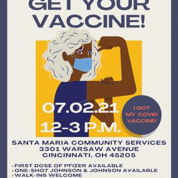 COVID-19 Vaccine Clinic – July 2, 2021, 12-3 p.m.